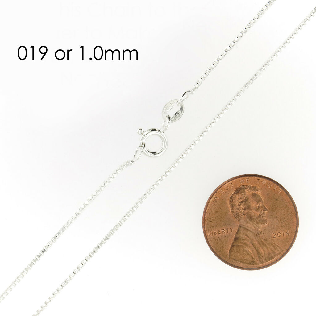 925 Sterling Silver BOX Chain Necklace All Sizes Stamped .925 Italy     eBay