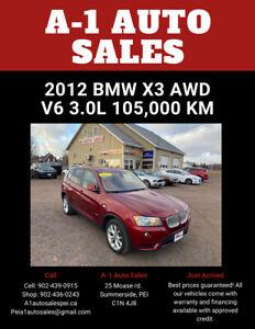 2012 BMW X3 28i AWD Straight 6 Cylinder Engine 3.0L