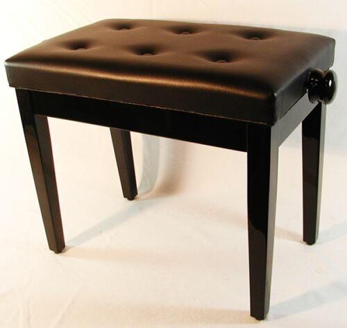 Piano Hocker Klavier Bank edel schwarze Klavierbank