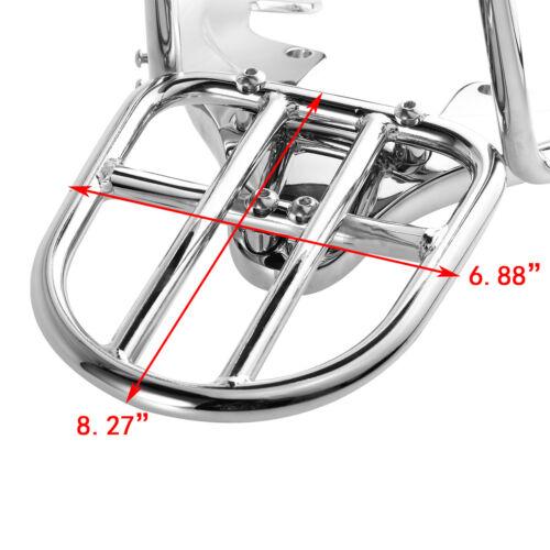Sissy Bar Backrest w// pad Luggage Rack Kit For Harley VRSCAW VRSCDX VRSCX 07-11
