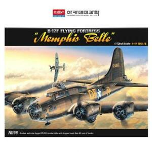 Academy-12495-B-17F-Flying-Fortress-MEMPHIS-BELLE-Aircraft-1-72-Assemble