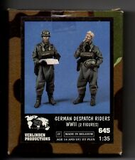 VERLINDEN 645 - GERMAN DESPATCH RIDERS WWII (2 Figures) - 1/35 RESIN KIT NUOVO