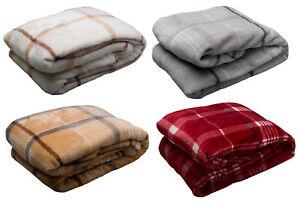 Velosso tr s doux couverture polaire chaud confortable canap lit carreaux ebay - Canape lit tres confortable ...