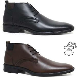 Mens New Leather Lace Up Smart Formal