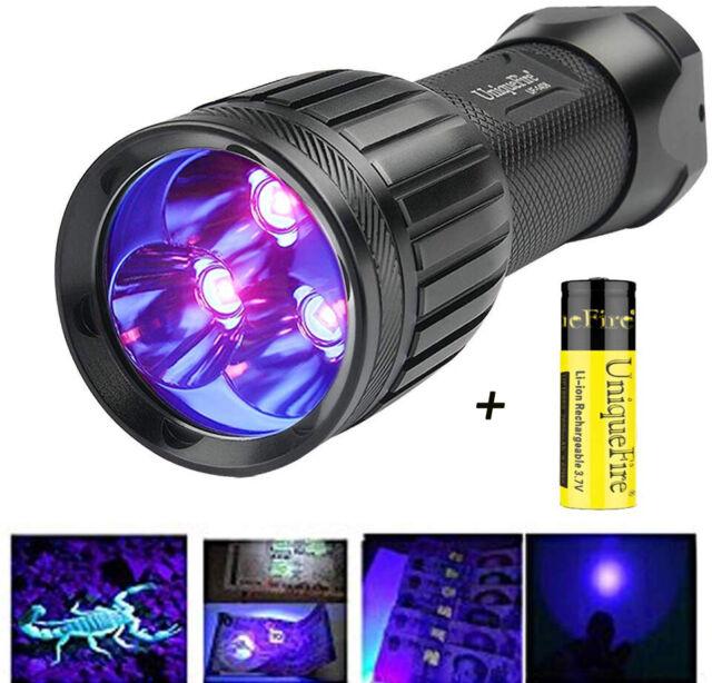 Zoomable 3 Modes UV-Ultraviolet Led Flashlight Money Leak Pet Urine Detector