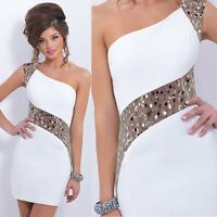 Hot Fashion Women Sexy Sequins Bodycon Bandage Party Cocktail Evening Club Dress