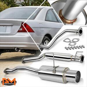 """For 01-05 Honda Civic 2/4 Dr EX EM/ES 4"""" Tip Muffler S.S Catback Exhaust System"""