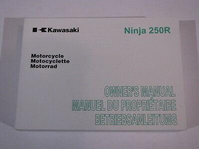 KAWASAKI NINJA 250R EX250KA  OWNERS MANUAL  MANUEL DU PROPRIETAIRE