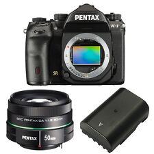 Pentax K-1 DSLR Camera + Pentax smc DA 50mm f/1.8 Lens + Pentax D-LI90E Battery