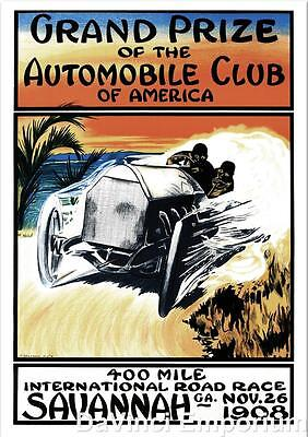 Grand Prize of the Automobile Club of America Fine Art Lithograph S2