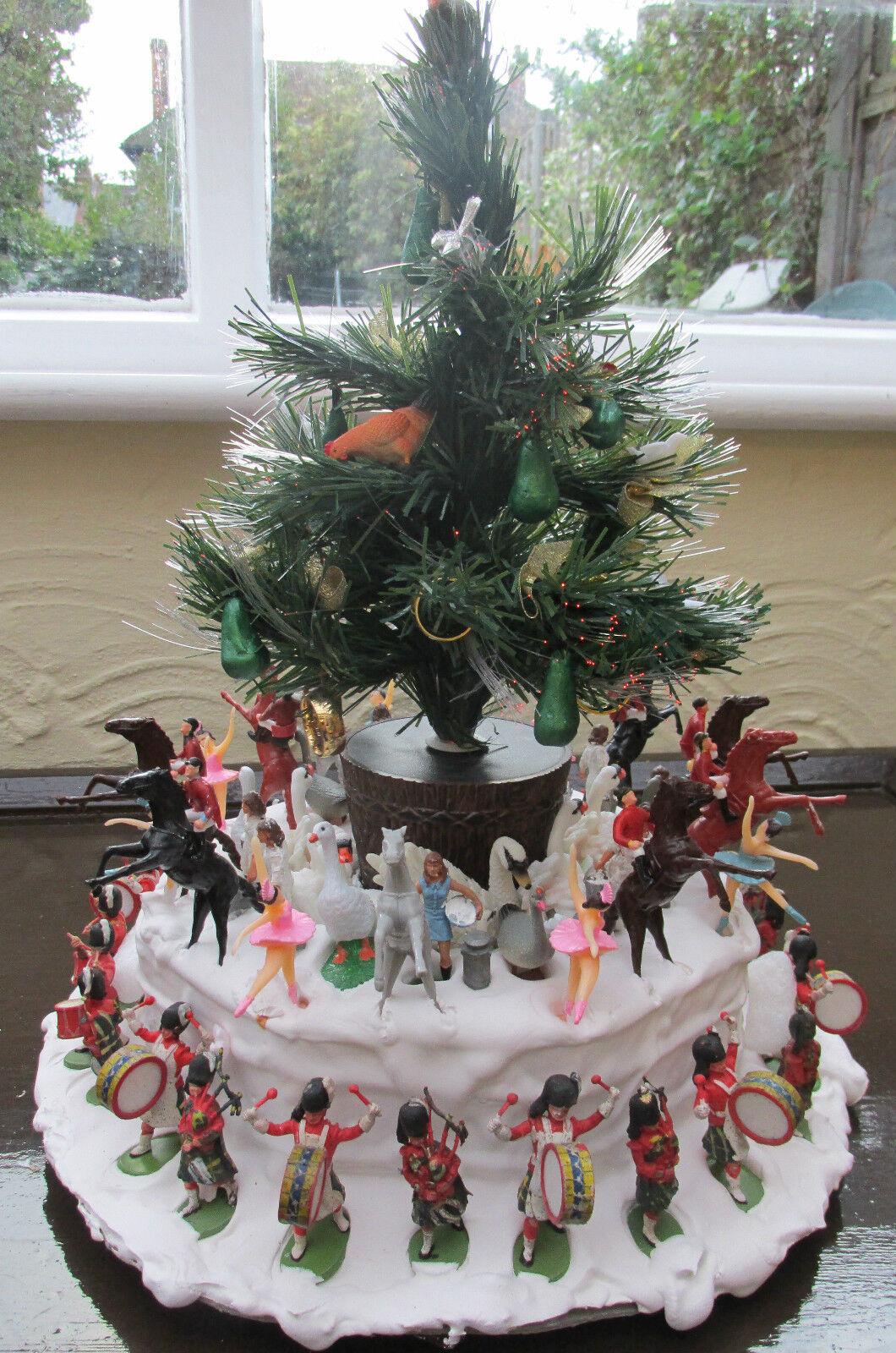 12 días de Decoración de Navidad pieza central de Mesa masiva todos los días figuras