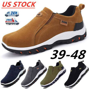 Men-039-s-Outdoor-Hiking-Running-Shoes-Breathable-Antiskid-Loafers-Slip-on-Sneakers
