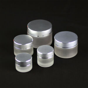 1-10PCS-5-10-15-30-50g-Thick-Glass-Facial-Cream-Jar-Empty-Cosmetic-Container