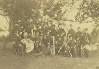 33rd York Volunteers Elmira Cornet Band July 1861 8x10 Us Civil War Photo