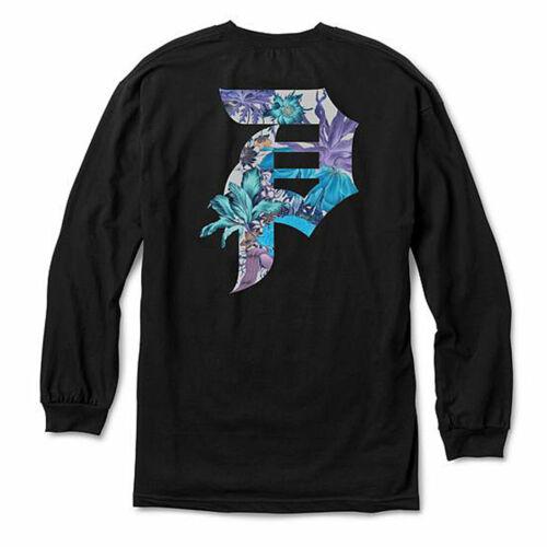 Primitive Men/'s Botanical Long Sleeve T Shirt Black Clothing Apparel Tees T-Shir