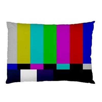 TV Television Color Bars Two-Sided Bed Pillow Case