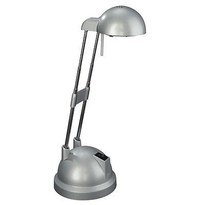 Basic Silver Desk Lamp Working Light, How To Change A Halogen Desk Lamp Bulb