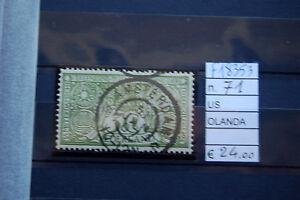 FRANCOBOLLI-OLANDA-USATI-N-71-F18353