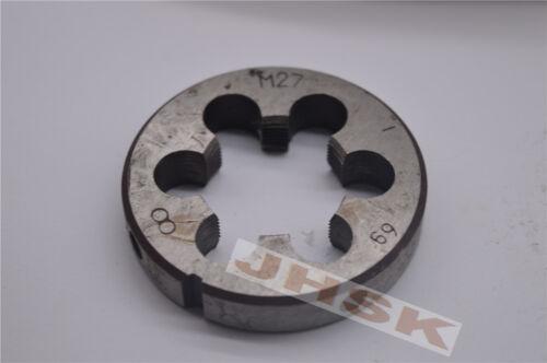 1pcs Metric Right Hand Die M27×1 Dies Threading Tools 27×1 M27 Fine tooth