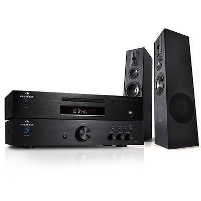 600W HI-FI STEREO SYSTEM CD RECEIVER FLOOR SPEAKERS MP3 USB RADIO *FREE P&P UK