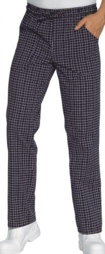 Pantaloni Da Lavoro con elastico e coulisse in vita Cuoco Chef QUADRETTI BLU