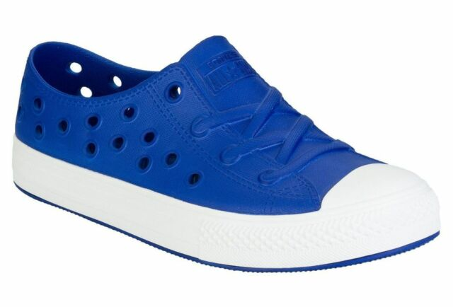 Converse CT Chuck Taylor All Star 'Rockaway Perforated Slip On Blue Rubber Shoes