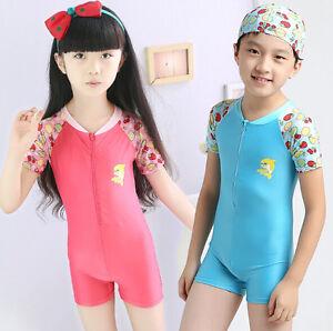 fab3c5f742 Kids Swimsuit Girl Boy 2-12Y Swimwear Rash Guard Dolphin Beachwear ...