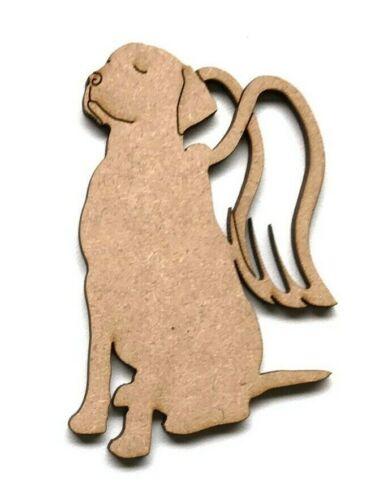 Wooden MDF Dog Cat Angel Memorial Plaque Shape Craft Embellishment Decoration