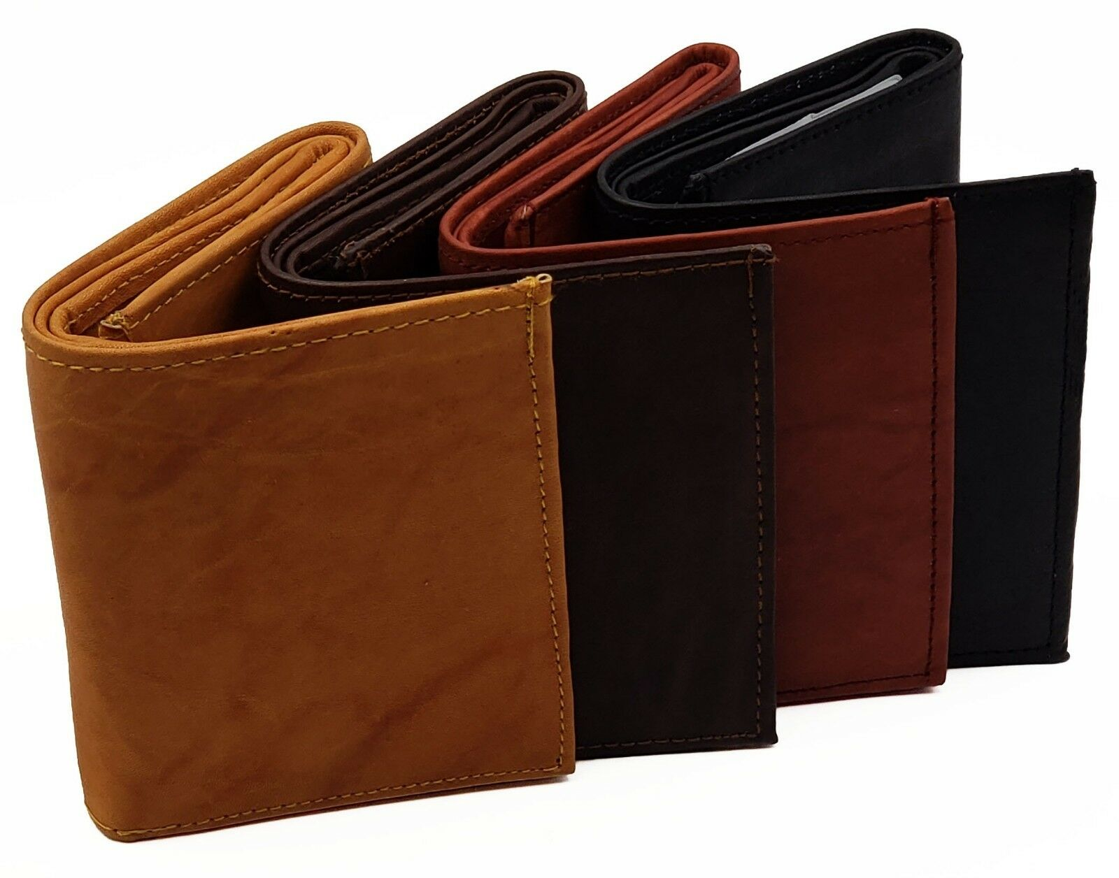 AG Wallets MENS Trifold RFID Wallet Cowhide Leather Removable Inserts