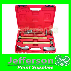 PANEL-BEATING-SET-REPAIR-6-PIECE-GENUINE-HICKORY-HAMMER-AND-DOLLY-KIT