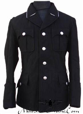 WW2 German M32 Black Officer Uniform Inclu Trousers S/M/L/XL/XXL/XXXL