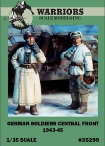 Warriors-1-35-German-Soldiers-Central-Front-1943-45-2-Resin-Figures-Kit-35299