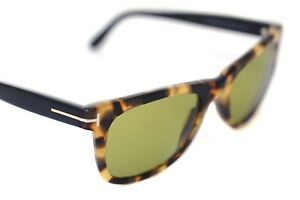 6a3b017d394 TOM FORD LEO TF336 55N 52mm Mens Womens Plastic Sunglasses BLACK ...