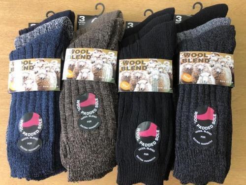 New Men Thermal Wool Socks Winter Warm Boot Sports Work Walking Hiking Size 6-11