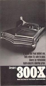 Chrysler 300-X Concept Car 1967 USA Market Foldout Brochure Newport New Yorker