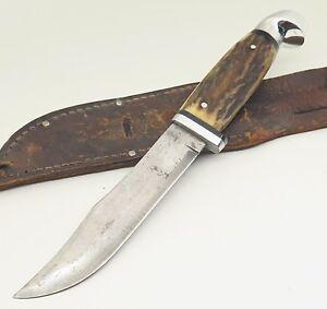 Rare Vintage Kinfolks USA Flame Edge Super Hunter 568 TC Stag