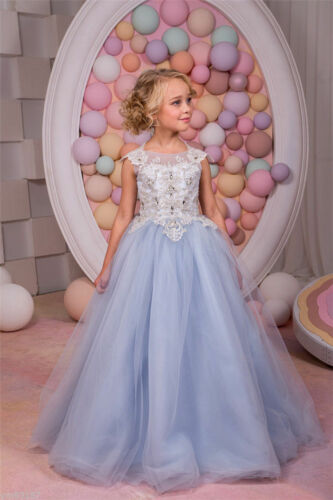 2017 Flower Girl Princess Dress Pageant Ball Gown Party Formal Wedding Birthday