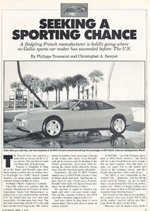1989 MVS Venturi Road Test Classic Article P63