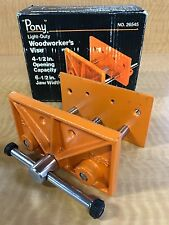 Pony 26545 4-1/2-Inch x 6-1/2-Inch Light Duty Woodworkers Vise Clamps vises