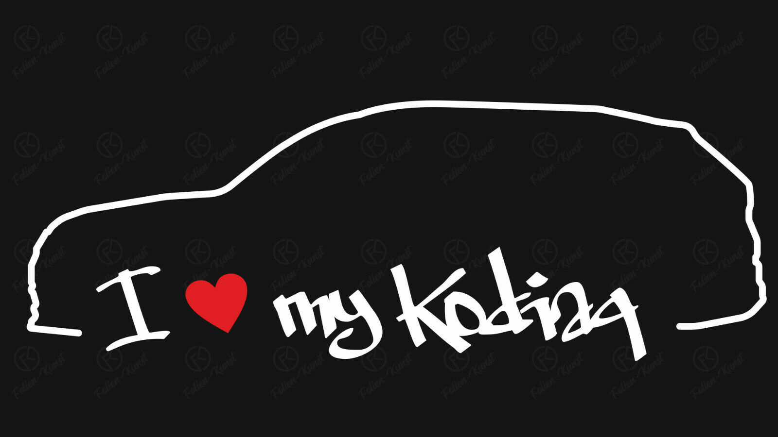 Impuls Aufkleber mit Skoda Kodiaq Silhouette Autosticker Stripes Styling Tuning