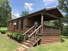 Tiny Log Cabin Home 2 Go On Wheels 42lx11wx14h 400sq Ft