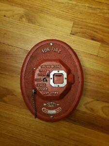 Vintage-ADT-Fire-Alarm-Box-Red