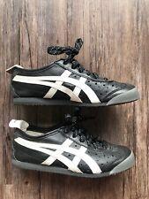c16f6e2f8f48 Asics Onitsuka Tiger Mens 4 US Sneakers Shoes Leather Black White D1F0L Rare