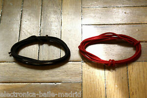 2 Mt GUITAR ELECTRIC BROWN & RED 22 AWG VINTAGE CLOTH COVERED WIRE