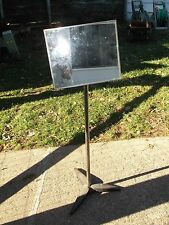 Vintage GC Electronics Model No. 8391 Service Mirror on Stand TV Repair Graphics