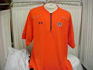 NCAA-Auburn-Tigers-War-Eagle-1-4-Zip-Pullover-Orange-Navy-Under-Armour-Size-XL