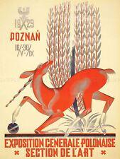 Publicidad De Exposiciones nacional polaco Exposition Unicorn trigo Cartel lv835