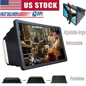 3D HD Folding Cell Phone Screen Magnifier Screen Amplifier Stand Holder Bracket
