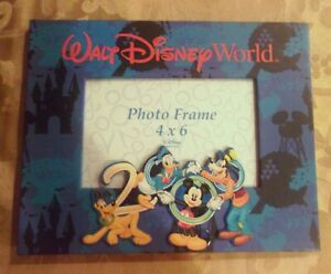 Walt-Disney-World-4X6-PICTURE-FRAME-2000-NEW-Vintage-Photo-TABLETOP-Collectible