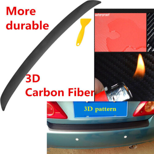 1*3D Car Trunk Sill Plate Bumper Guard Protector Carbon Fiber Sticker For Ford